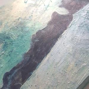 Balaton festmény / 34 x 17 cm / egyedi, művészi - Meska.hu