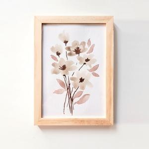 Akvarell virágok // csokor / festmény , Művészet, Festmény, Akvarell, Újabban kedves akvarell képeket is készítek.  Kép mérete képeslap méretű : 10 x 15 cm (+ keret) Bárm..., Meska