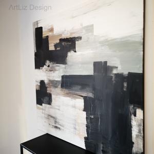 100x100 cm absztrakt festmény, Művészet, Festmény, Festészet, \nEgyetlen példányban készült késztermék, azonnal szállítható.\n\nPrémium festékekkel készült, magas mi..., Meska