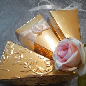 Tortaszelet formájú esküvői meghívó, Esküvő, Meghívó & Kártya, Meghívó, Papírművészet, Meska