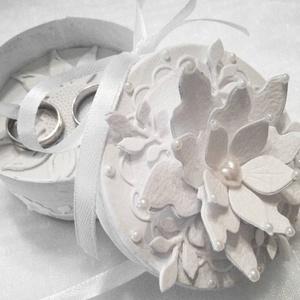 Gyűrűdoboz, Esküvő, Papírművészet, Meska