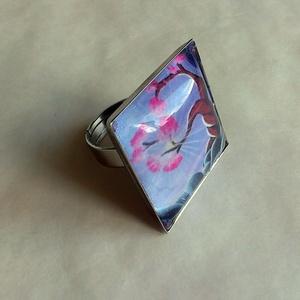 AKCIÓ! Alkony - üveglencsés gyűrű (artsisters) - Meska.hu
