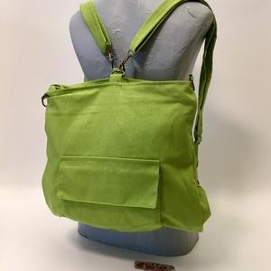 Zöldellő Hátizsák-táska, Táska & Tok, Hátizsák, Hátizsák, IVariálható hátizsák-táska mérete : 42cm x 35 cm ,cipzár hossza 34cm,belső zseb 20cm x 19 cm. Külső ..., Meska