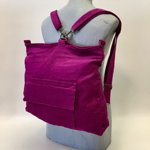 Magenta hátizsák táska, Táska & Tok, Variálható táska, Variálható hátizsák-táska mérete : 42cm x 35 cm ,cipzár hossza 34cm,belső zseb 20cm x 19 cm. Külső z..., Meska