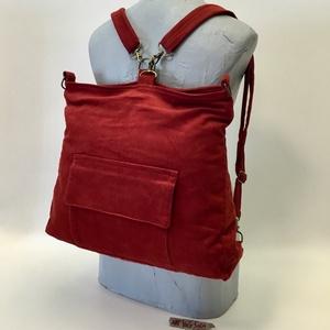 Kadmium hátizsák, Táska & Tok, Hátizsák, Hátizsák, Variálható hátizsák-táska mérete : 42cm x 35 cm ,cipzár hossza 34cm,belső zseb 20cm x 19 cm. Külső z..., Meska