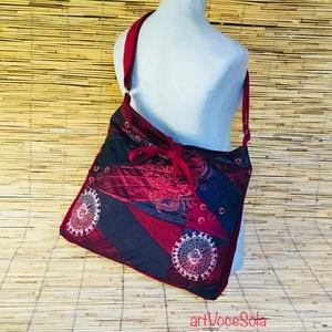 Cifra naplemente táska, Táska & Tok, Vállon átvethető táska, Kézitáska & válltáska, Női táska mérete: 42cm x 35cm,cipzár hossza 34cm,belső zseb 20 cm x 19 cm. Állítható pánt 4cm x 130c..., Meska