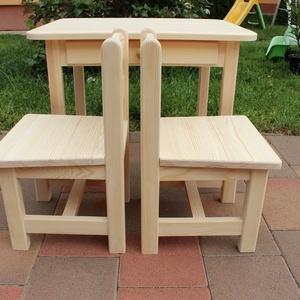 gyerekasztal gyerekszék gyerek asztal szék Bölcsődés méret  pad sámli (arvaiz69) - Meska.hu