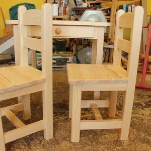Gyerekasztal gyerekszék gyerek asztal szék sámli pad, Otthon & Lakás, Bútor, Asztal, Famegmunkálás, A kisbútor már elkelt, de kérésre 3 hét alatt készítek egy pont ugyanilyen szép készletet.  A kisbút..., Meska