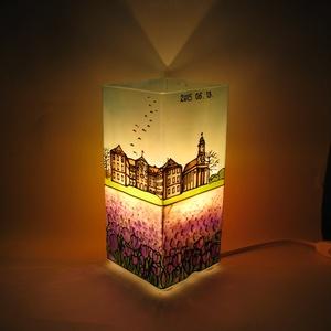Örök emlék lámpa - festett üveg hangulatlámpa utazóknak (aster) - Meska.hu
