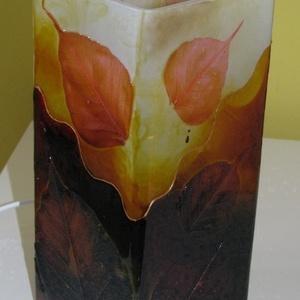 Ősz, hangulat - festett üveg dekor lámpa (aster) - Meska.hu