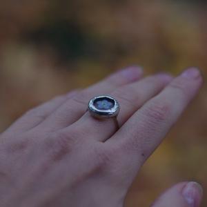 FAUN nefelejcs üveg gyűrű, ezüstözve, kék erdei nefelejcs, fenntartható design, különleges karácsonyi ajándék, Ékszer, Gyűrű, Esküvő, Esküvői ékszer, Ékszerkészítés, Üvegművészet, Természet kedvelőknek legjobb ajándék :)\nKis kék erdei nefelejccsel :)\nÍrj és segítek meghatározni a..., Meska