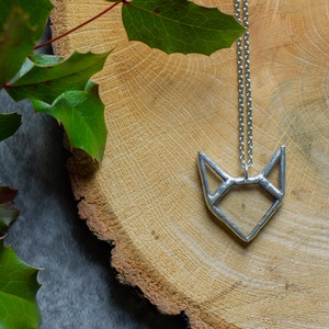 RÓKA üveg nyaklánc újrahasznosított üvegből , fenntartható, minimal, állat, természet, barát, barátság, rókuci medál, Medálos nyaklánc, Nyaklánc, Ékszer, Ékszerkészítés, Üvegművészet, BEKIND róka üveg nyaklánc. Tiffany technikával készült, állatbarátoknak :)\nKülönleges darab. Lánchos..., Meska