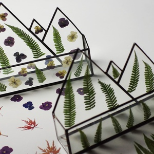 Üveg Levéltartó egyedi, igazi erdei pilisi páfránnyal, igazi növénnyel, tiffany, ólomüveg, más növénnyel virággal is, Fali tároló, Tárolás & Rendszerezés, Otthon & Lakás, Üvegművészet, Szereted a természetet? Imádsz kirándulni? Esetleg növényeket is gyűjtesz rendszeresen? Örömmel elké..., Meska