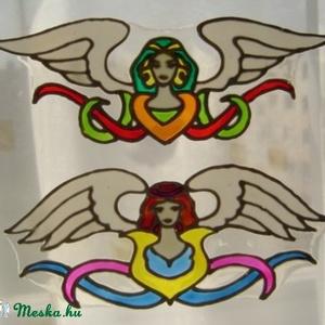 Ablakdísz, üvegmatrica, ANGYAL, 2db egyben, Ablakdísz, Dekoráció, Otthon & Lakás, Festett tárgyak, Festészet, ANGYAL ABLAKDÍSZ, ÜVEGMATRICA 2DB\n\nAZ ANGYALI ENERGIÁT BEVONZZA OTTHONUNKBA.\n\nAz ár mindkét matricát..., Meska