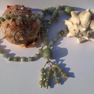 Valódi, természetes, csodaszép zöld jáde nyaklánc, TOPAAA  (Atlantisz) - Meska.hu