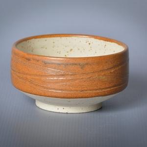 Kerámia  japános teáscsésze (repesztett1), Bögre & Csésze, Konyhafelszerelés, Otthon & Lakás, Kerámia, Pöttyös kőagyagból készült, magastűzön (1210 fokon) tömörre égetett csésze. Külseje a pöttyös résztő..., Meska