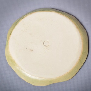 Kerámia kistányér, effekt zöld (atmankeramia) - Meska.hu