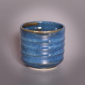 Kerámia  japános teáscsésze (kék), Otthon & lakás, Lakberendezés, Konyhafelszerelés, Bögre, csésze, Fehér kőagyagból készült, magastűzön (1210 fokon) tömörre égetett csésze. . A mindennapos használato..., Meska