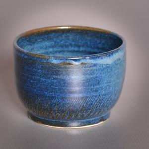 Kerámia  japános teáscsésze (kék2), Otthon & lakás, Lakberendezés, Konyhafelszerelés, Bögre, csésze, Fehér kőagyagból készült, magastűzön (1210 fokon) tömörre égetett csésze. A mindennapos használatot ..., Meska
