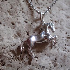 Ló medál, Férfiaknak, Ékszer, Medál, Hagyományőrző ajándékok, Ötvös, Szobrászat, Ezüst ló medál,\n925-ös ezüstből készítettem ,névjelzett\nplasztikus\nmérete:2 x 1,5cm -es\nsúlya:1,8gr..., Meska