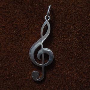 Violin kulcs medál - ékszer - nyaklánc - medálos nyaklánc - Meska.hu
