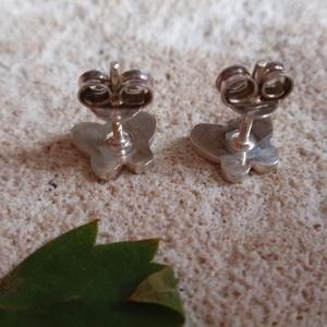Lepke ezüst fülbevaló - ékszer - fülbevaló - pötty fülbevaló - Meska.hu