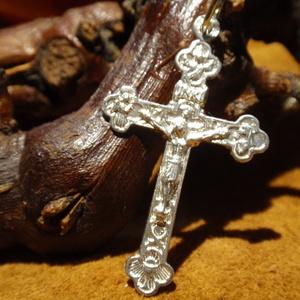 Négy szentes kereszt medál, Ékszer, Nyaklánc, Medál, Ékszerkészítés, Ötvös, Meska