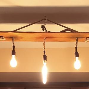 beltéri lámpa, Otthon & lakás, Lakberendezés, Lámpa, Fali-, mennyezeti lámpa, Hangulatlámpa, Famegmunkálás, Beltéri design lámpa, akár hangulatvilágítás, akár teljes értékű lámpaként használható. Rusztikus me..., Meska