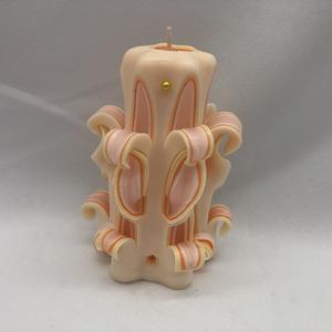 Narancs, Egyéb, Gyertya-, mécseskészítés, A  képen látható faragott gyertya 10 cm-es.\nA paraffint megfelelő hőmérsékletre kell hevíteni így ke..., Meska