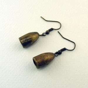 Cartuccia fülbevaló, Ékszer, Fülbevaló, A fülbevalót lövedék rézköpenyből készítettem. Ennek köszönhetően, régies stílusú és egyedi.   Azono..., Meska