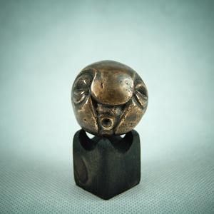 """Csücsöri, Művészet, Szobor, Fém, Fémmegmunkálás, \""""Marok-szobor\"""" kategóriában készült csücsörítő szobor, választható alappal (a fotón szereplő alap cs..., Meska"""