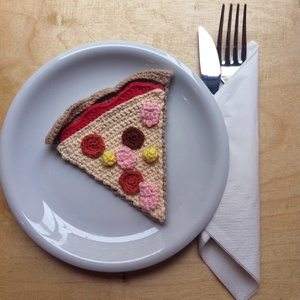 Horgolt pizza (AvecMonPapillon) - Meska.hu