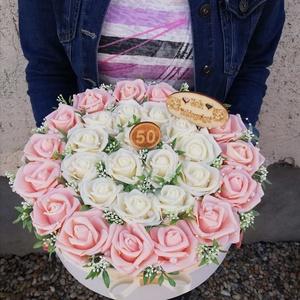 Óriás virágbox, Csokor & Virágdísz, Dekoráció, Otthon & Lakás, Mindenmás, Virágkötés, Óriás virágbox több féle virágból kérhető és több fajta méretben is megoldható\nA képen látható 30cm ..., Meska
