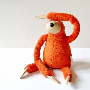Kis narancs plüss Lajhár, Játék, Gyerek & játék, Plüssállat, rongyjáték, Baba-és bábkészítés, Varrás, Ez a lajhár a dzsungel leglassabb, de egyben legkedvesebb állata. Mindig vidám és ölelésre kész. Sel..., Meska