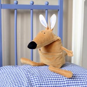 Bébi Kenguru, Austrál Erszényes Emlős nagy fülekkel, Más figura, Plüssállat & Játékfigura, Játék & Gyerek, Baba-és bábkészítés, Varrás, A Kenguruk Ausztráliában élnek, és erszényükben nem a kicsinyeik fotóját tartják mint a nagymamák, h..., Meska
