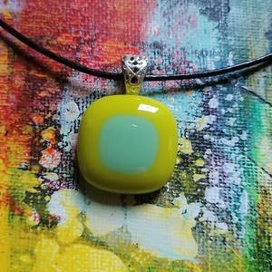 Üveg medál, Ékszer, Medál, Ékszerkészítés, Üvegművészet, Fusing technikával készült  medál, Meska