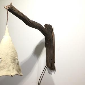 Fehér nemez-csipke falilámpa (Azul) - Meska.hu