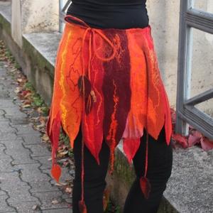 Nemez szoknya, Ruha & Divat, Női ruha, Szoknya, Nemezelés, Egyedi darab, nem készül két egyforma. A szoknya finom merinó gyapjúból készült, börbarát, puha vise..., Meska
