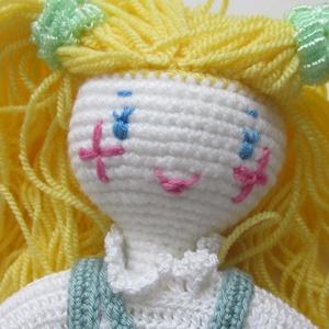 Trudi - amigurumi baba - horgolt baba - öltöztetős baba - horgolt Waldorf baba - játékbaba, Gyerek & játék, Játék, Baba játék, Trudi a legszőkébb szőke baba. Kedves, mosolyra csalogató, öltöztethető, amigurumi technikával horgo..., Meska