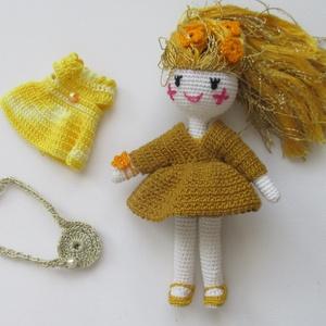 Aranyhaj Goldy - amigurumi baba - horgolt baba - öltöztetős baba - játékbaba, Gyerek & játék, Játék, Baba, babaház, Baba játék, Horgolás, Aranyhaj Goldy egy igazi barátnő. Kedves, mosolygós, varázslatos, - és öltöztethető, amigurumi techn..., Meska