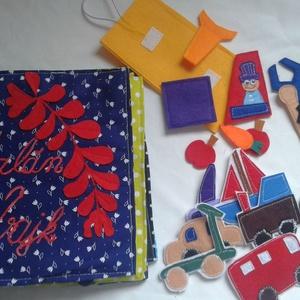 Kisfiús 10 oldalas puhakönyv autószerelés, kishuszár és mozgatható ló, magyaros népi motivumos anyagokon, csendeskönyv, Játék, Gyerek & játék, Baba játék, Készségfejlesztő játék, Plüssállat, rongyjáték, Varrás, Textilkönyv, babakönyv, ineteraktív foglalakoztató és készségfejlesztő játék, csendeskönyv, filc ját..., Meska