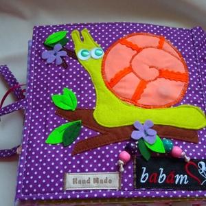 14 oldalas foglalkoztató könyv fiúknak, lányoknak, csendeskönyv, Játék, Gyerek & játék, Logikai játék, Készségfejlesztő játék, Varrás, Patchwork, foltvarrás, Textilkönyv, babakönyv, ineteraktív foglalakoztató és készségfejlesztő játék, csendeskönyv, filc ját..., Meska