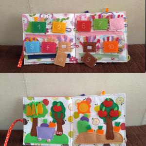 Kislányos csendeskönyv, hemberrel, virágokkal, füzögetős, párosítós  és gombolós gyakorlatokkal (Babam) - Meska.hu