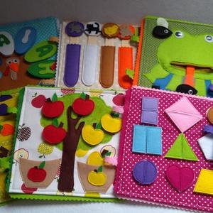 Állatos okosdoboz, csendeskönyv lapokból egy személyreszóló dobozban, összeválohgatható játék lapok, Játék & Gyerek, Szerepjáték, Textilkönyv, babakönyv, ineteraktív foglalakoztató és készségfejlesztő játék, csendeskönyv, filc ját..., Meska