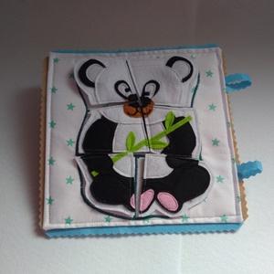 Csendeskönyvből egy oldal, okoskönyv, textilkönyv, babakönyv (Babam) - Meska.hu