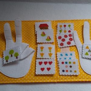 Kézen számolós Montessori játék- Csendeskönyvből egy oldal, okoskönyv, textilkönyv, babakönyv (Babam) - Meska.hu