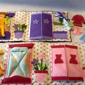 Babás, öltöztetős  okosdoboz, külön álló lapokból, testvér párnak, autós játék, kis táskában (Babam) - Meska.hu
