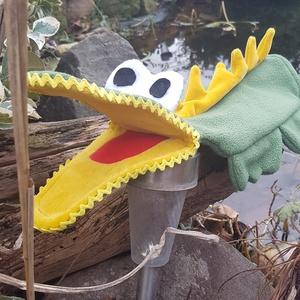 Krokodil kézbáb, Játék & Gyerek, Bábok, Kesztyűbáb, Baba-és bábkészítés, KB:32 cm hosszú, kézre kell felhúzni mint egy kesztyűt és a szája mozgatásával lehet megeleveniteni ..., Meska