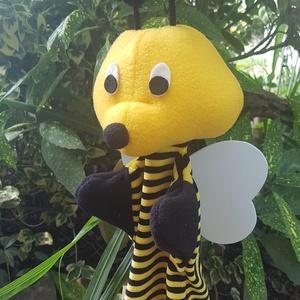 Méhecske kézbáb, Játék & Gyerek, Bábok, Kesztyűbáb, Varrás, Baba-és bábkészítés, Méhecske kézbáb KB:32 cm magas, mosható 30fokon kímélő programon. Száritógépbe nem szárítható. Kis g..., Meska
