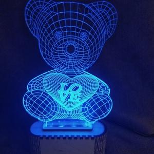 Macis világítós dísz, Otthon & lakás, Dekoráció, Dísz, Lakberendezés, Asztaldísz, Gravírozás, pirográfia, Lézervágott technikával készült plexi dísz. A termék különböző színben és módon világít egy telefont..., Meska